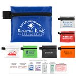 Custom 10 Piece Hand Sanitizer First Aid Kit in Zipper Pouch