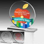 Custom Elegant Round Acrylic Award - 4 Color Process (6