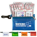 Custom 19 Piece Doctor's First Aid Kit in Translucent Vinyl Zipper Pouch