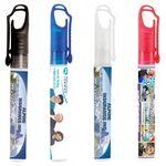 Custom 10 Ml Antibacterial Hand Sanitizer Spray Pump Bottle w/ Carabiner Clip Cap