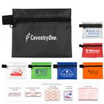 Custom 13 Piece On the Go First Aid Kit in Polyester Zipper Pouch
