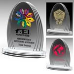 Custom Oval Legend Award - 4 Color Process (6 1/4