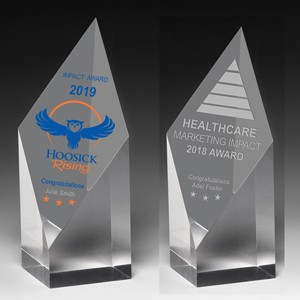 "Diamond Obelisk Award (9""x2""x2"") - Laser Engraved"