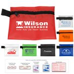 Custom 7 Piece Take-A-Long First Aid Kit in Polyester Zipper Pouch