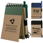 Custom Recycled Jotter Notepad Notebook w/ Recycled Paper Pen