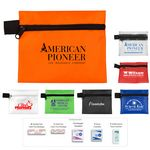 Custom 8 Piece Hand Sanitizer First Aid Kit in Zipper Pouch