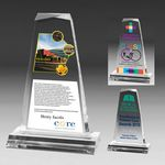Custom Multi-Faceted Acrylic Tapered Award - Screen Print