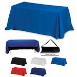 Custom Eight Foot 3-Sided Economy Table Cloth & Cover (Blank)