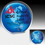 Custom Globe Award w/ Standard Globe Graphic - Screen Print (6 1/2