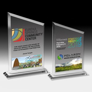 "PhotoImage® Peak Billboard Award (5 3/4""x7 3/4""x3/8"") - 4 Color Process"