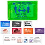 Custom 10 Piece Economy First Aid Kit in Colorful Vinyl Pouch - Spot Color