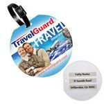 Custom Recycled Jumbo Round Write-On Surface Luggage Bag Tag (4 Color Process)