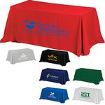 Custom 8' 4-Sided Throw Style Table Covers & Table Throws (Spot Color Print) / Fit 8 Foot Table