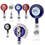 Custom Round Badge Reel w/ Rotating Alligator Clip Back & Badge Holder Clip (4 Color Process)