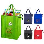 Custom Large Insulated Zipper 'Super Cooler' Tote Bag