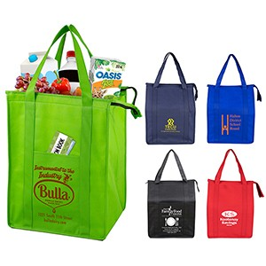 """Super Cooler"" Large Insulated Cooler Zipper Tote Bag (Overseas)"