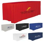 Custom 8' 4-Sided Fitted Style Table Covers & Table Throws (Spot Color Print) / Fit 8 Foot Table