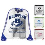 Custom 'Everest' Clear Drawstring Cinch Pack Backpack