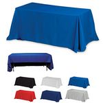 Custom 6' 3-Sided Economy Table Covers & Table Throws -Blanks / Fit 6 Foot Table