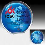 Custom Globe Award w/ Standard Globe Graphic - Laser Engraved (6 1/2