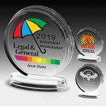 Custom Round Legend Award - Laser Engraved (5 1/4