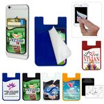 Custom Phone Wallet with Detachable Microfiber Cleaning Cloth