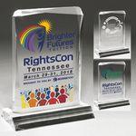 Custom Clear Acrylic Jewel Award - Laser Engraved