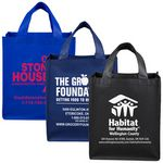 Custom Large Imprint Smooth Front Super Grocery Shopping Tote Bag