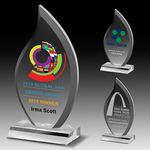Custom Multi-Faceted Acrylic Flame Award - Laser Engraved (4