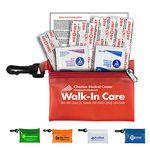 Custom 7 Piece Take-A-Long First Aid Kit Vinyl Zipper Pouch (4 7/8