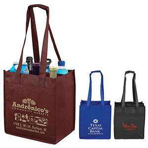 """The Sonoma"" 6 Bottle Wine Tote Bag"