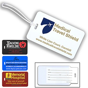 ID Slip-In Pocket Luggage Bag Tag (Spot Color)