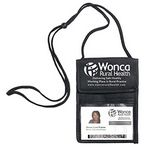 Custom Non-Woven Econo 5 Function Trade Show Badge Holder and Neck Wallet