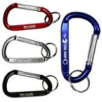 Custom Medium Size Carabiner Keyholder w/ Split Ring Attachment