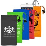 Custom Spot Color Microfiber Drawstring Pouch