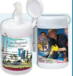 imprinted hand sanitizer for wellness programs and health fairs