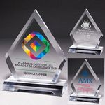 Custom Multi-Faceted Acrylic Diamond Award - Screen Print