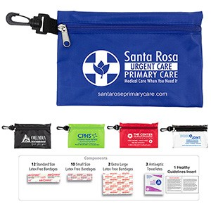 """All-You-Need"" 28 Piece Multiple Bandage First Aid Kit in Supersized Zipper Pouch"