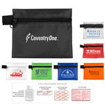 Custom 9 Piece Hand Sanitizer First Aid Kit in Zipper Pouch