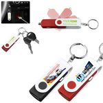 Custom USB Car Charger & Adaptor with Detachable Swivel Keychain (PhotoImage 4 Color)