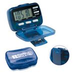 Custom Multi Function Step Counter Pedometer w/ Hinged Cover