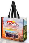 Custom Wendy' Full Color Laminated Woven Wrap Tote and Shopping Bag