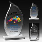 Custom Flame Legend Award - 4 Color Process (3 3/4