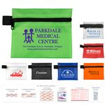 Custom 14 Piece On the Go First Aid Kit in Zipper Pouch with Triple Antibiotic Ointment