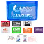 Custom 7 Piece Economy First Aid Kit in Colorful Vinyl Pouch