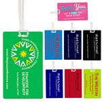 Custom Recycled Neon & Stock Color Background Kwik-Seal Luggage Bag Tag