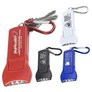 """""""Beamer"""" 4 LED Keyholder Keylight w/Carabiner Clip"""