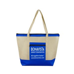 Country Aire Oversized Beach & Travel Zippered Boat Tote Bag