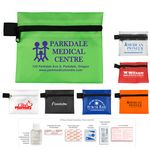 Custom 9 Piece Hand Sanitizer First Aid Kit in Zipper Pouch w/ Antiboiotic Ointment