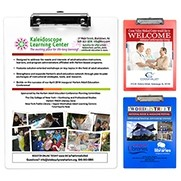 Letter Size Clipboard w/ PhotoImage® Full Color Imprint & Metal Spring Clip
